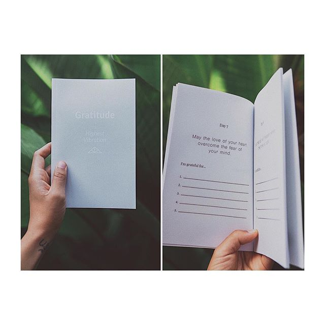◊ Gratitude is the Highest Vibration ◊ . I wrote and self-published this 30-day gratitude journal with my own, original daily affirmations designed to uplift you and help you attract more positivity in your life 💫 What you project, will reflect. Happy Thursday beautiful people ♡