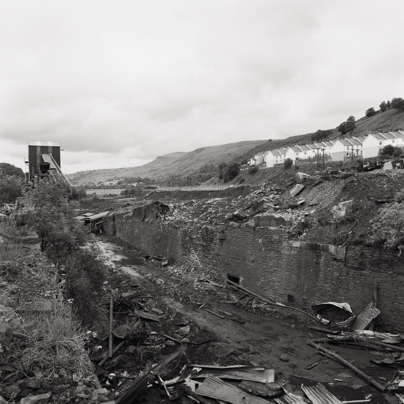 Dismantled colliery, Merthyr Vale, Merthyr Tydfil, Wales, 1990