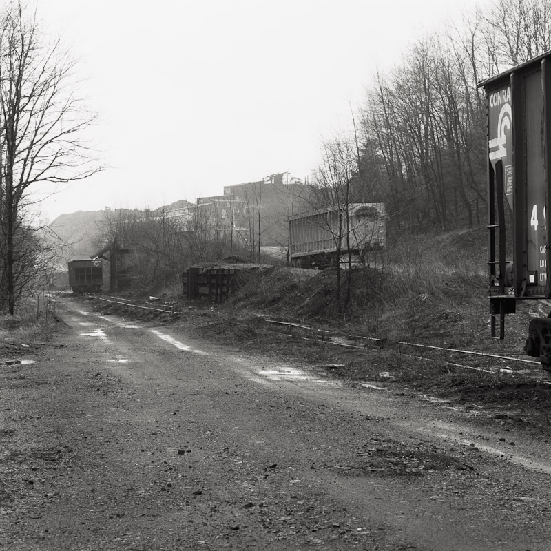 Coal loading rail yard, Schuylkill County, Pennsylvania, 1990