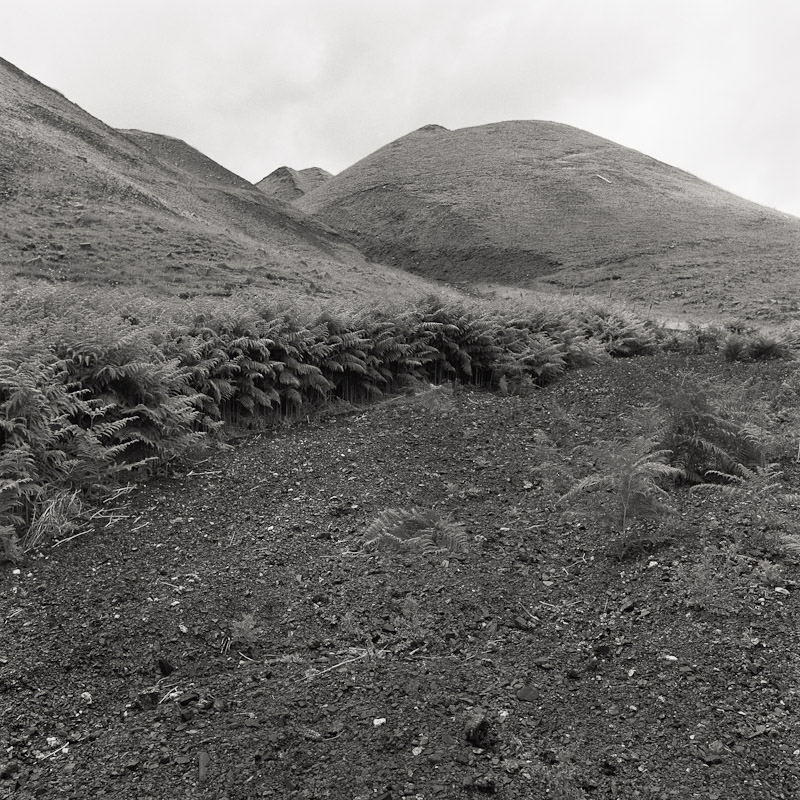 Slag heaps, Llwynypia, Tonypandy, Wales, 1990