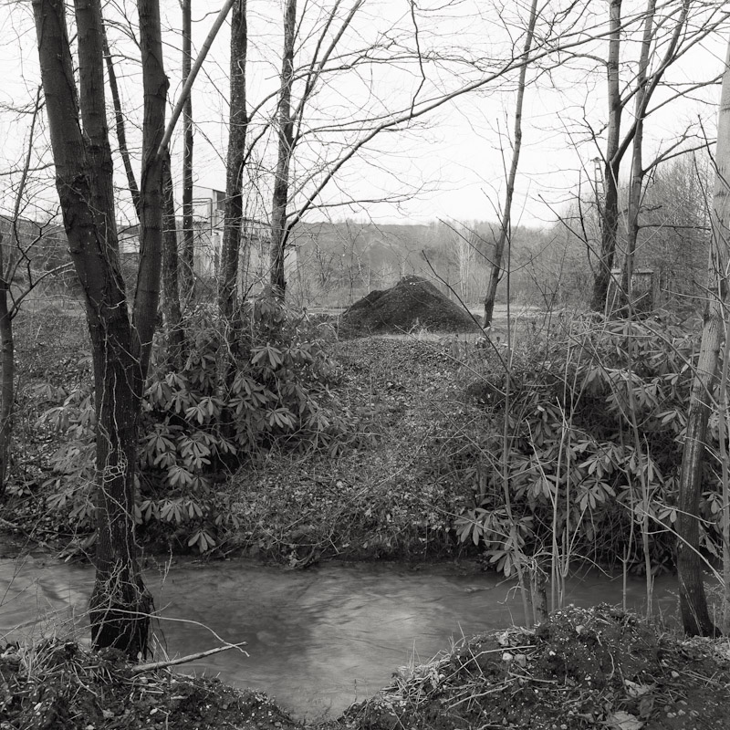 Coal tip and stream, Schuylkill County, Pennsylvania, 1990