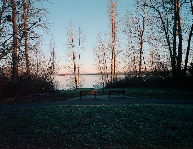 Vista point, Kelley Point, Portland, Oregon, 2015