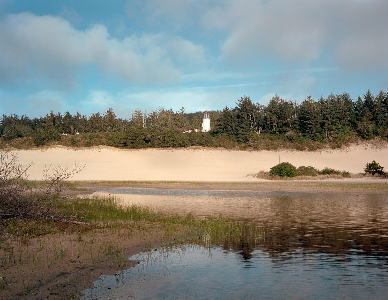 View of Umpqua River Lighthouse, Winchester Bay, Oregon, 2015