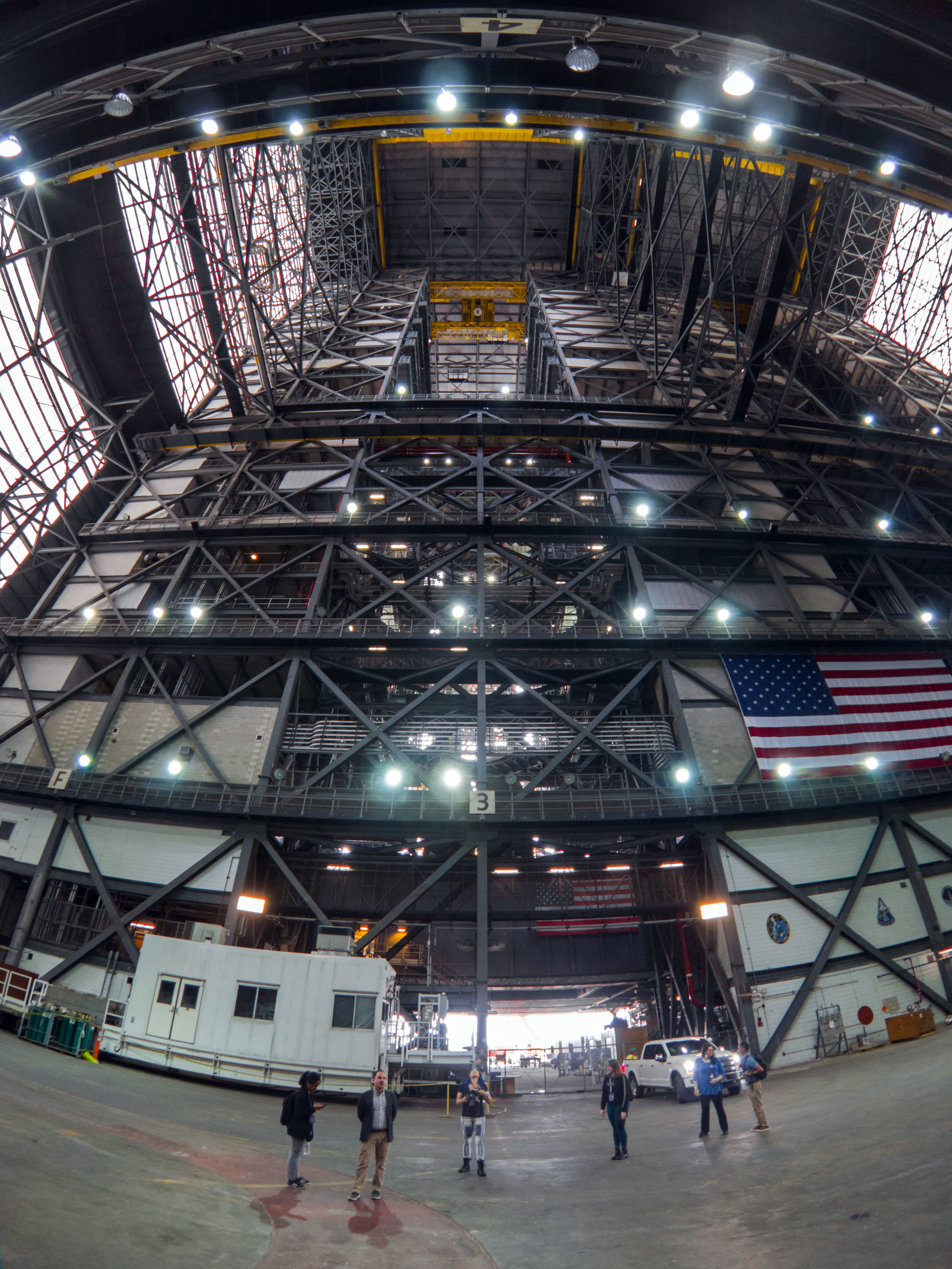 Looking up into High Bay 3