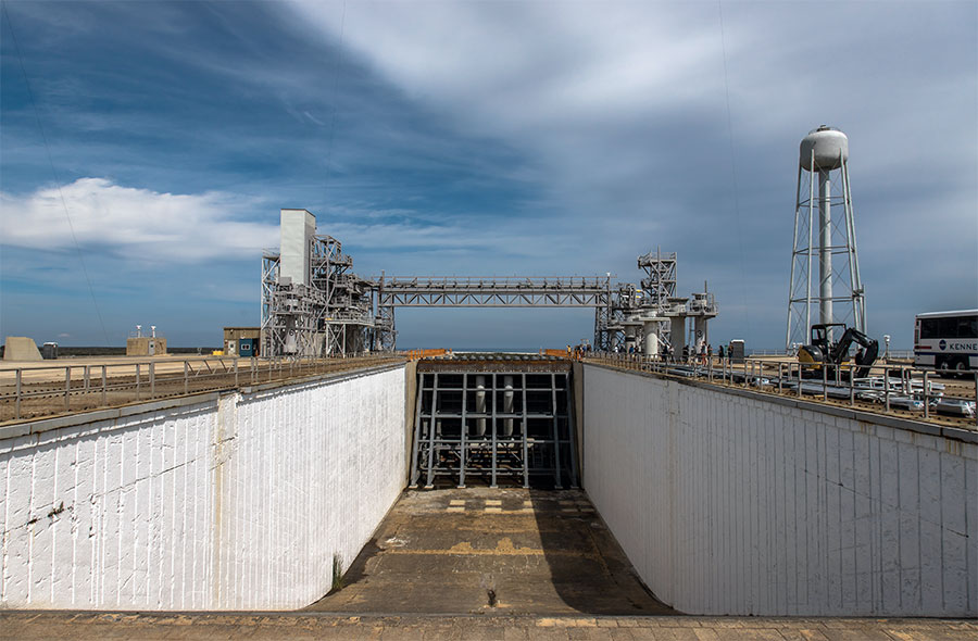 The flame trench at LC-39B