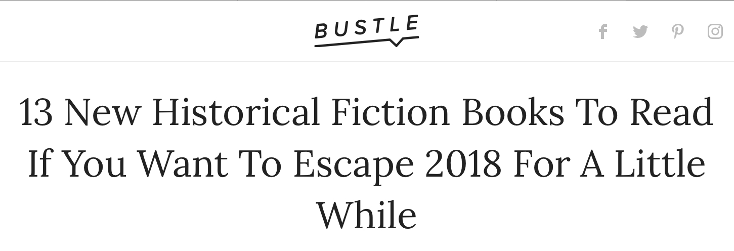 Bustle Names The Lost Family One of Top 13 Historical Novels to Read to Escape - One of our favorite reasons to read? To escape for a while! We're therefore thrilled that Bustle named The Lost Family one of the top books to read to escape this summer. Calgon and historical fiction, take us away! For the full list, click here.