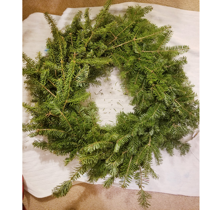 Wreath - This one happens to be real, but it doesn't have to be.