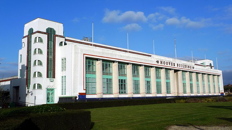 The Hoover Building. Photo Credit: © Ewan Munro via    Wikimedia Commons   .