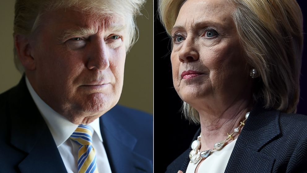Republican candidate Donald Trump (left) and Democratic candidate Hillary Clinton (right)