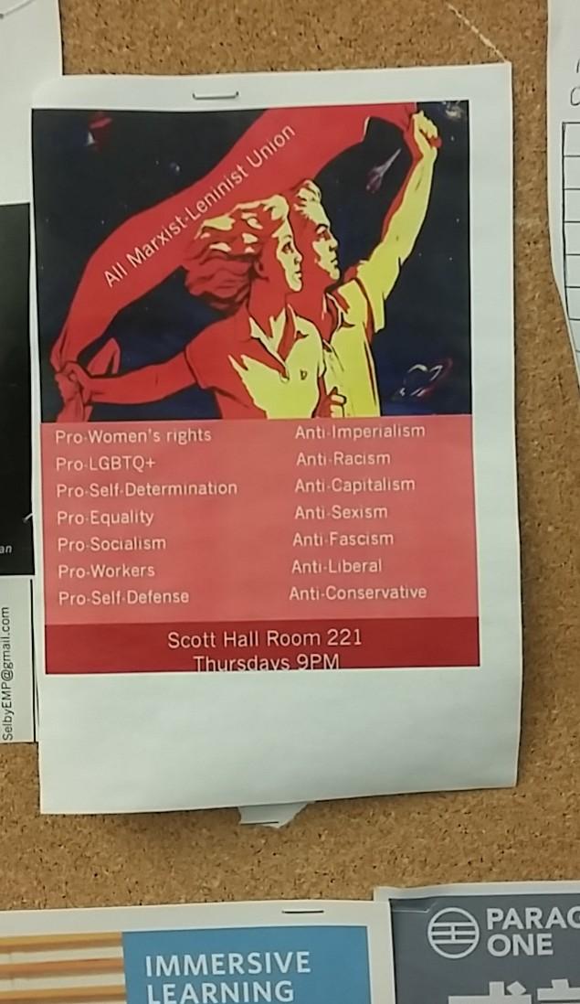 Marxist-Leninist Club Flyer