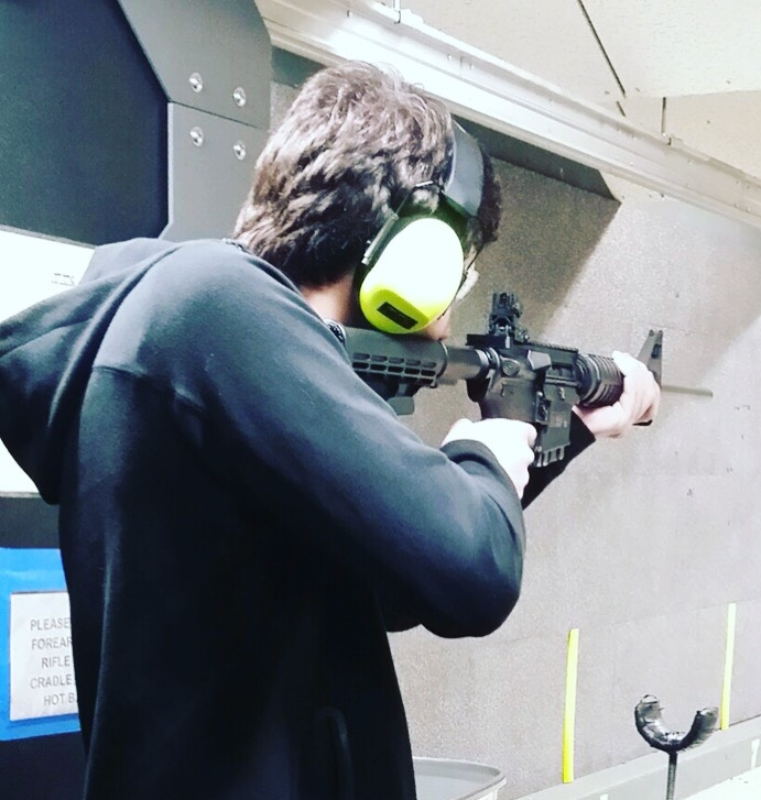 I was testing out the M&P 15 prior to purchasing it. To get this far, I needed 2 background checks and needed to be fingerprinted.