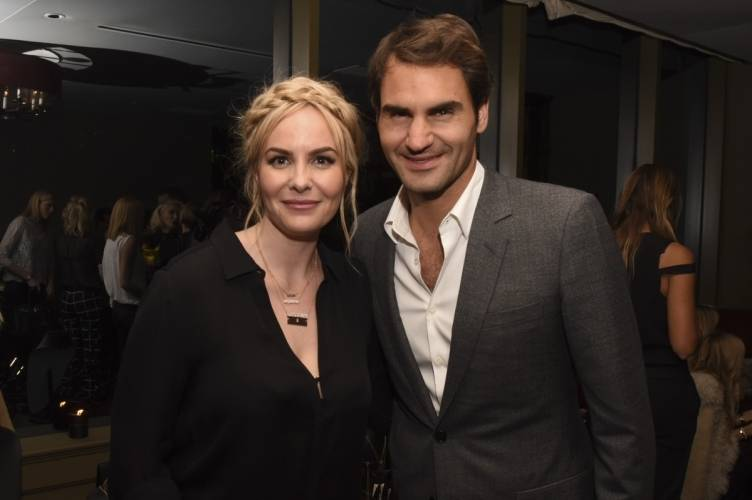 Nikki Erwin and Roger Federer  Photo Credit: Vivien Killilea for Getty Images