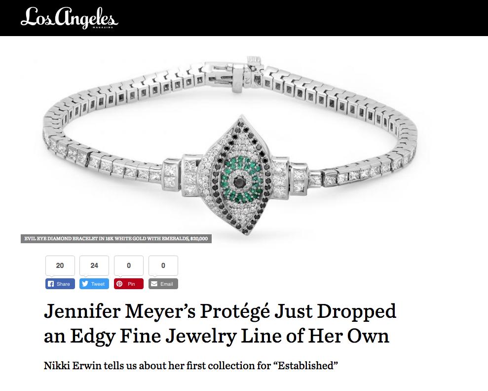 Established Jewelry Editorial Press, Los Angeles Magazine