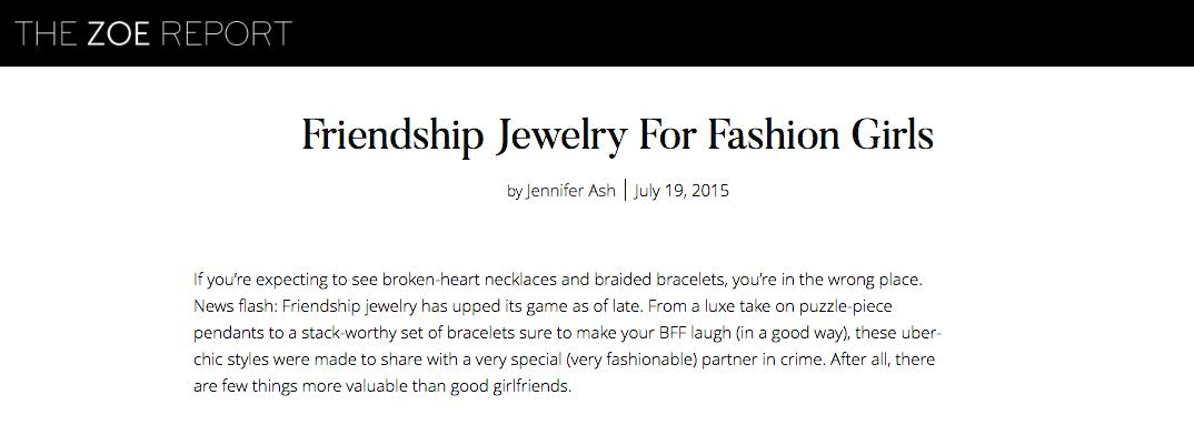 Established Jewelry, Editorial Press, The Zoe Report