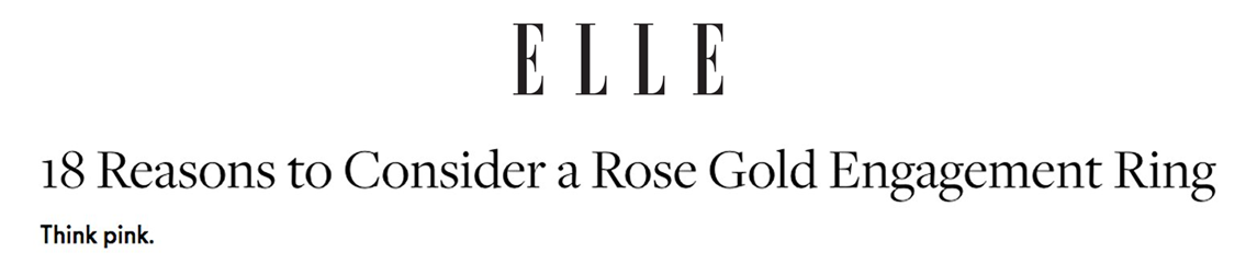 Established Jewelry Editorial Press, ELLE