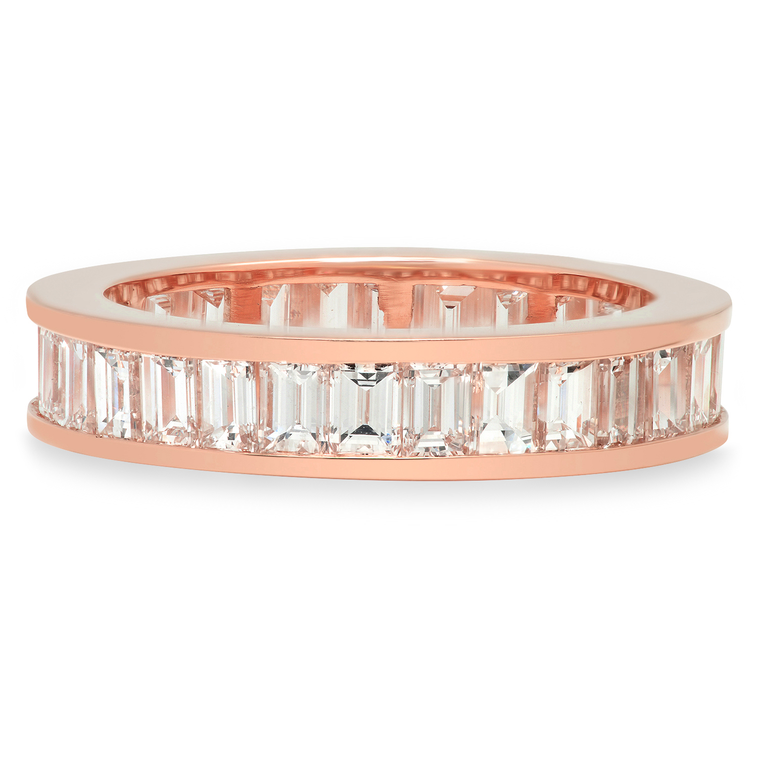 Established Jewelry Editorial Press, ELLE, Baguette Cut Rose Gold Diamond Band