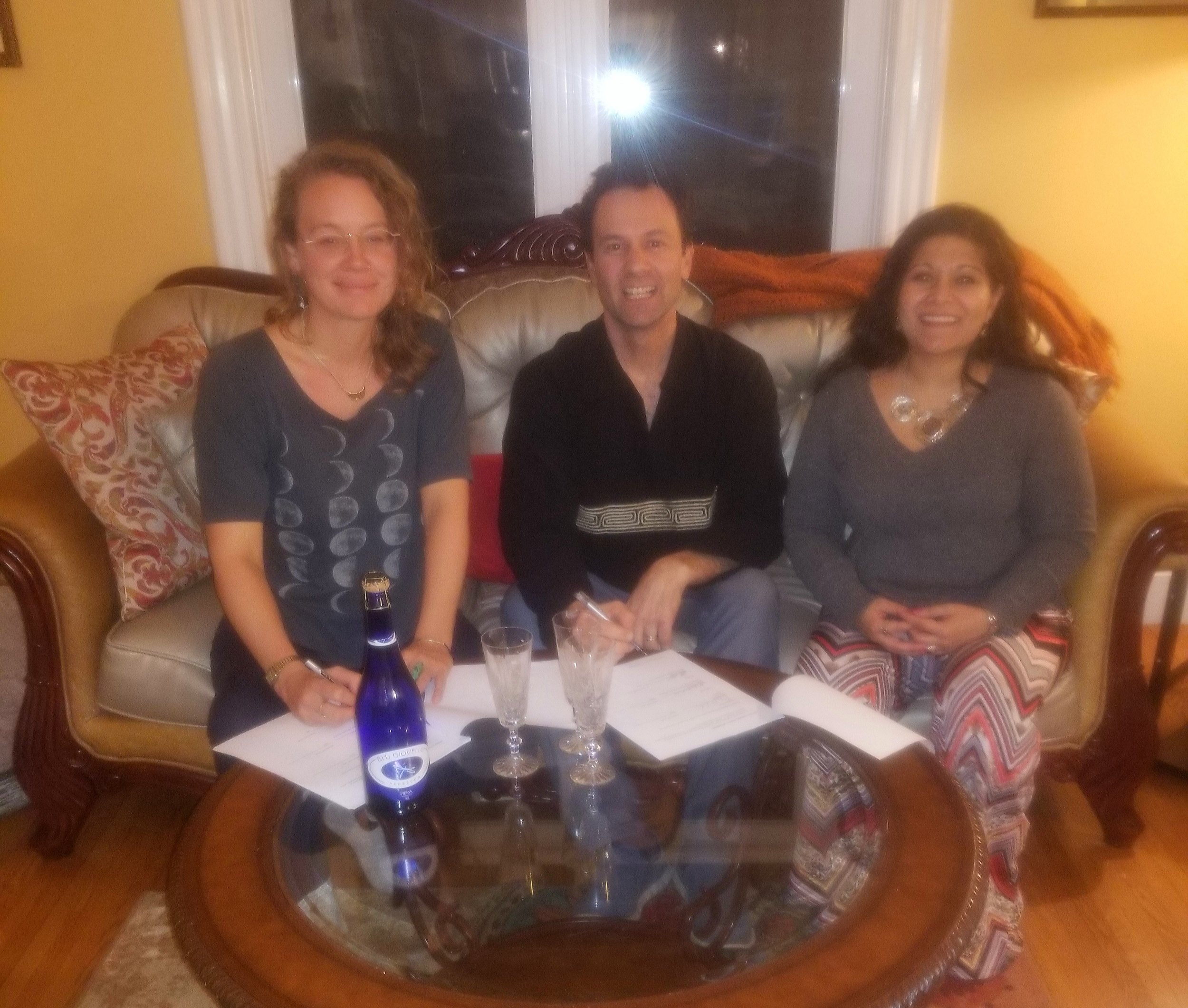 Sky, Ben, Romola; January 2018, the Forest City Canada . Agreeing to core values and ways of being were critical to officially launching GIFT. It is futile to grow anything without establishing a strong, mutually agreed upon foundation.