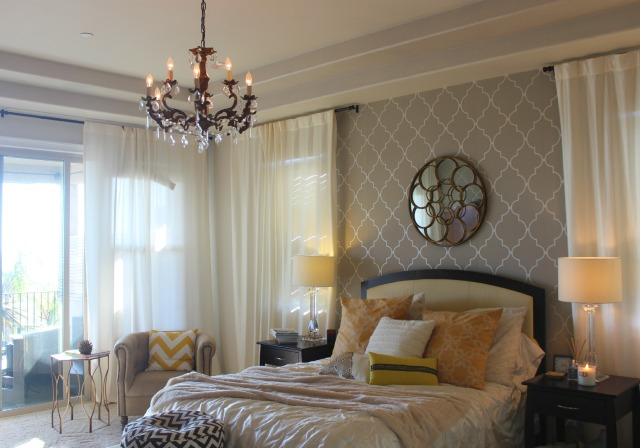 Master Bedroom with Parisian Chandelier Stylemindchic Lifestyle