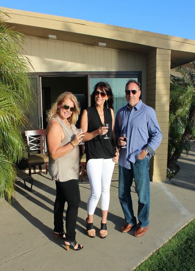 San Diego Getaway and wine on the patio at Bahia Resort Stylemindchic Life Heather Lindstrom and Dorie Swanson