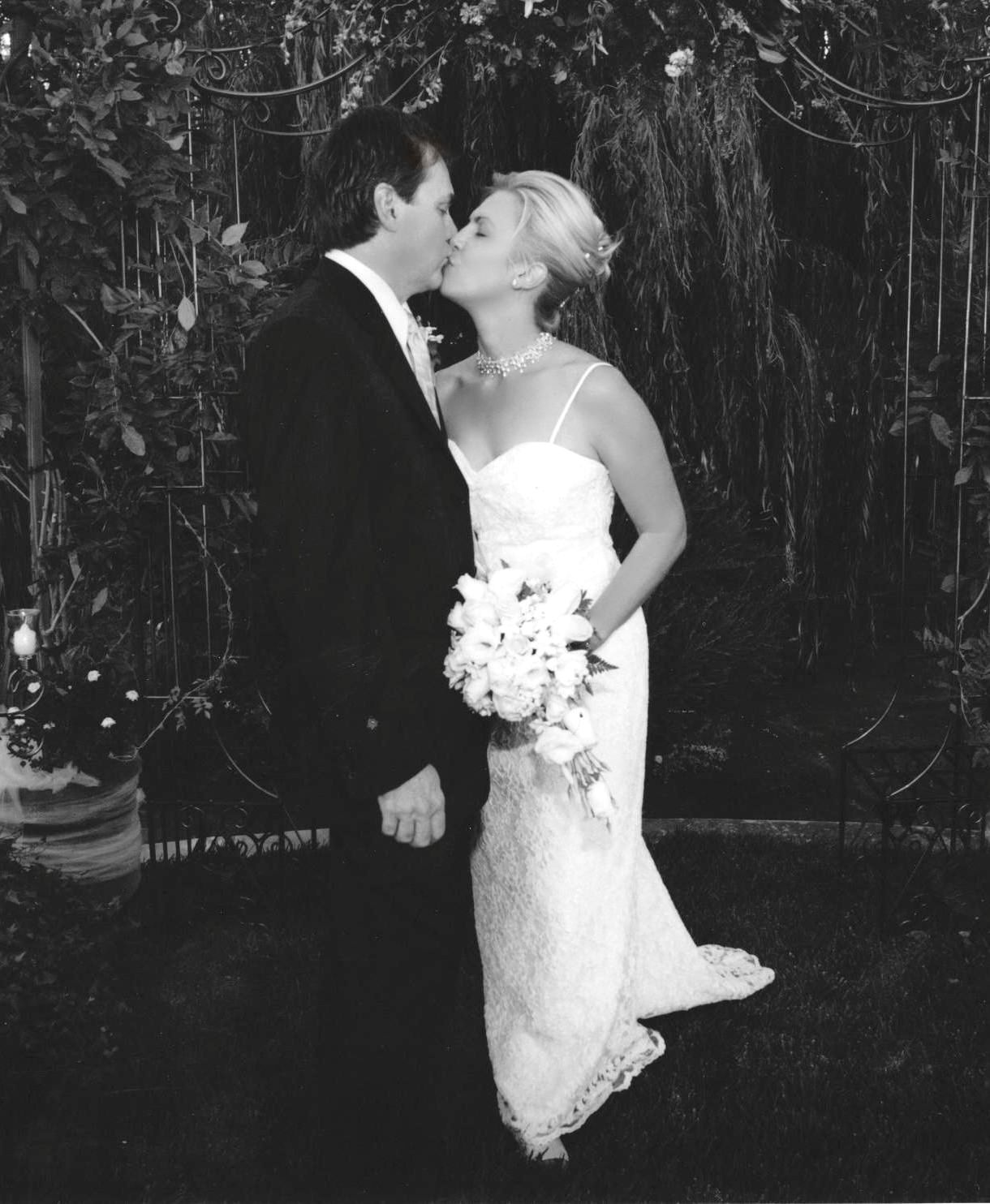 scott and heather before wedding kiss b and w.jpg