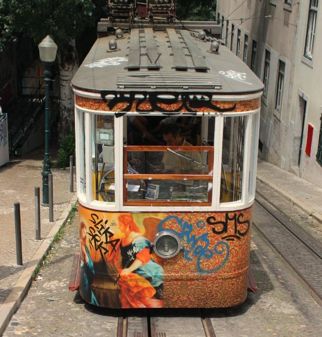 Colorful Tram in Lisbon