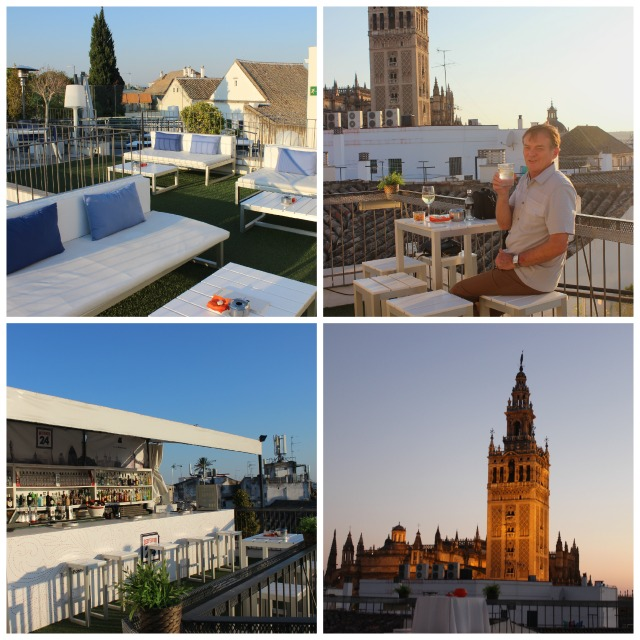 Rooftop Collage at the Fontecruz, Seville, Spain