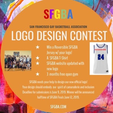 @SFGBA needs a new logo! Send your logo designs to justin@sfgba.com & jj@sfgba.com by THIS SUNDAY! #logocontest #gaybasketball #sanfrancisco #castrodistrict #pridemonth