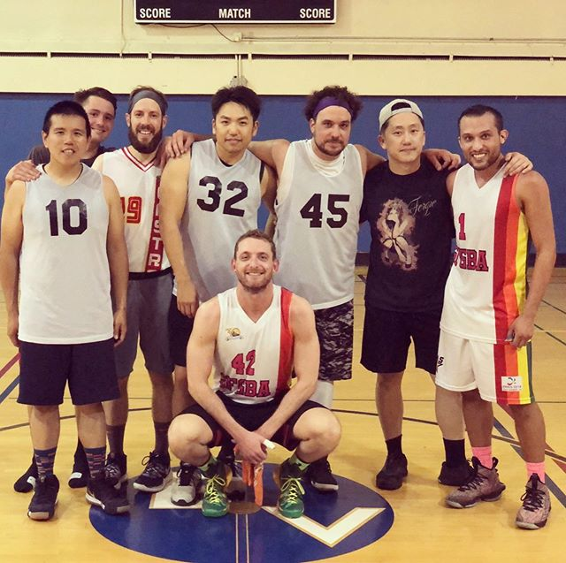 @SFGBA Spring 2019 Season #runnersup: Team @kwking766 - Congratulations on a great season! #gaybasketball #sanfrancisco #queersports #teammates #🏀 🥈