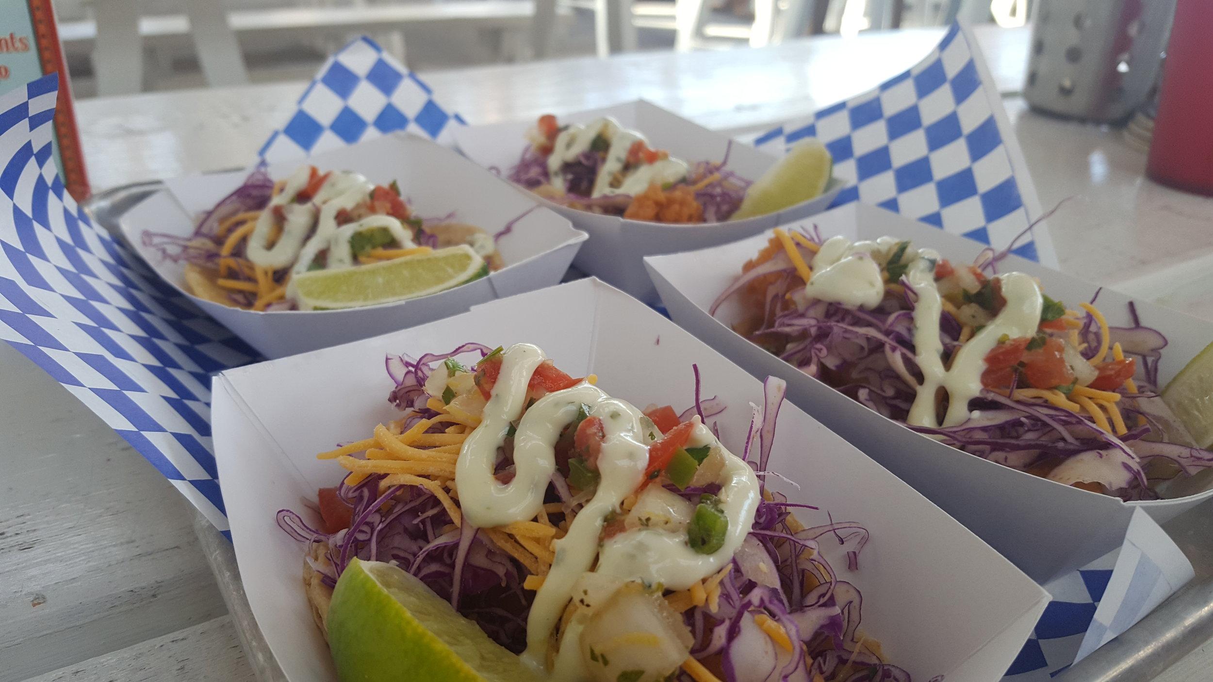 Baja fried fish tacos at Beerfish