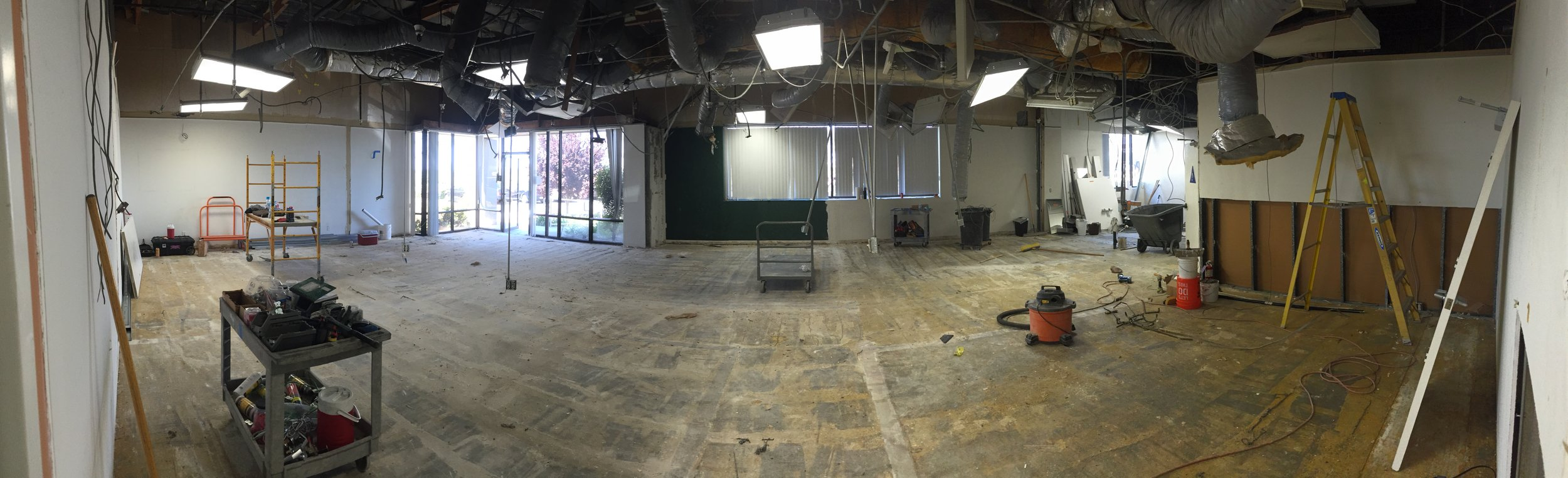 Warehouse and front office expansion at soccerloco HQ from March of 2016
