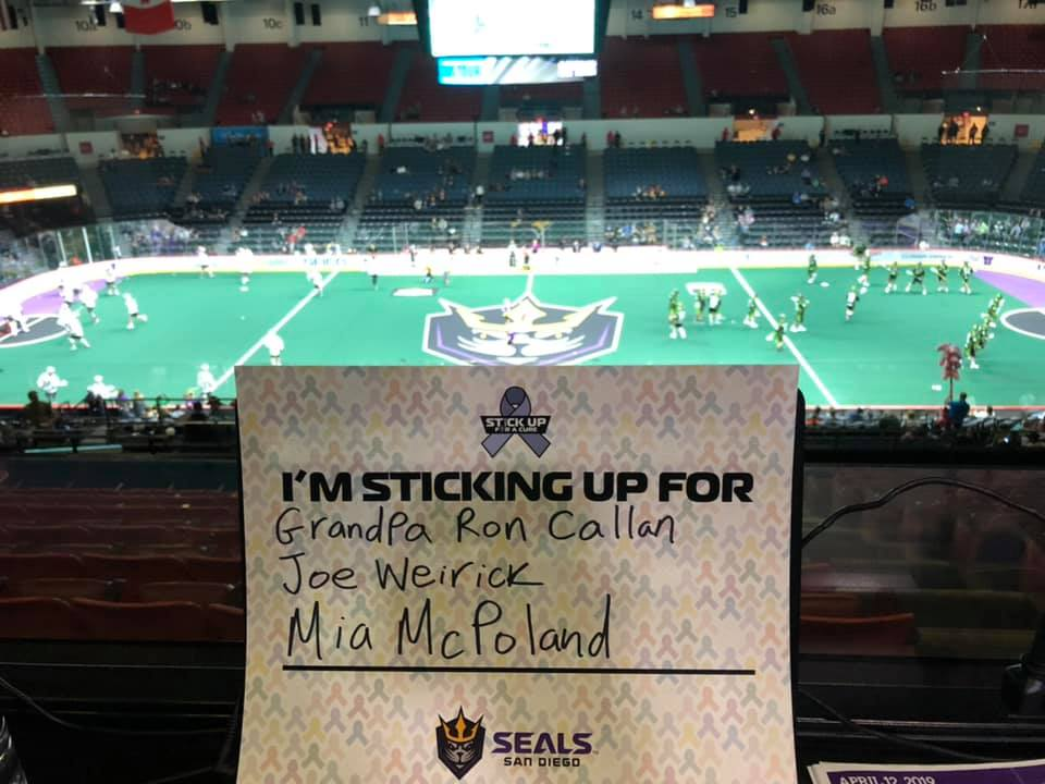 "Fans were encouraged to fill out an ""I'M STICKING UP FOR"" card and hold it up during a special ceremony at Halftime."