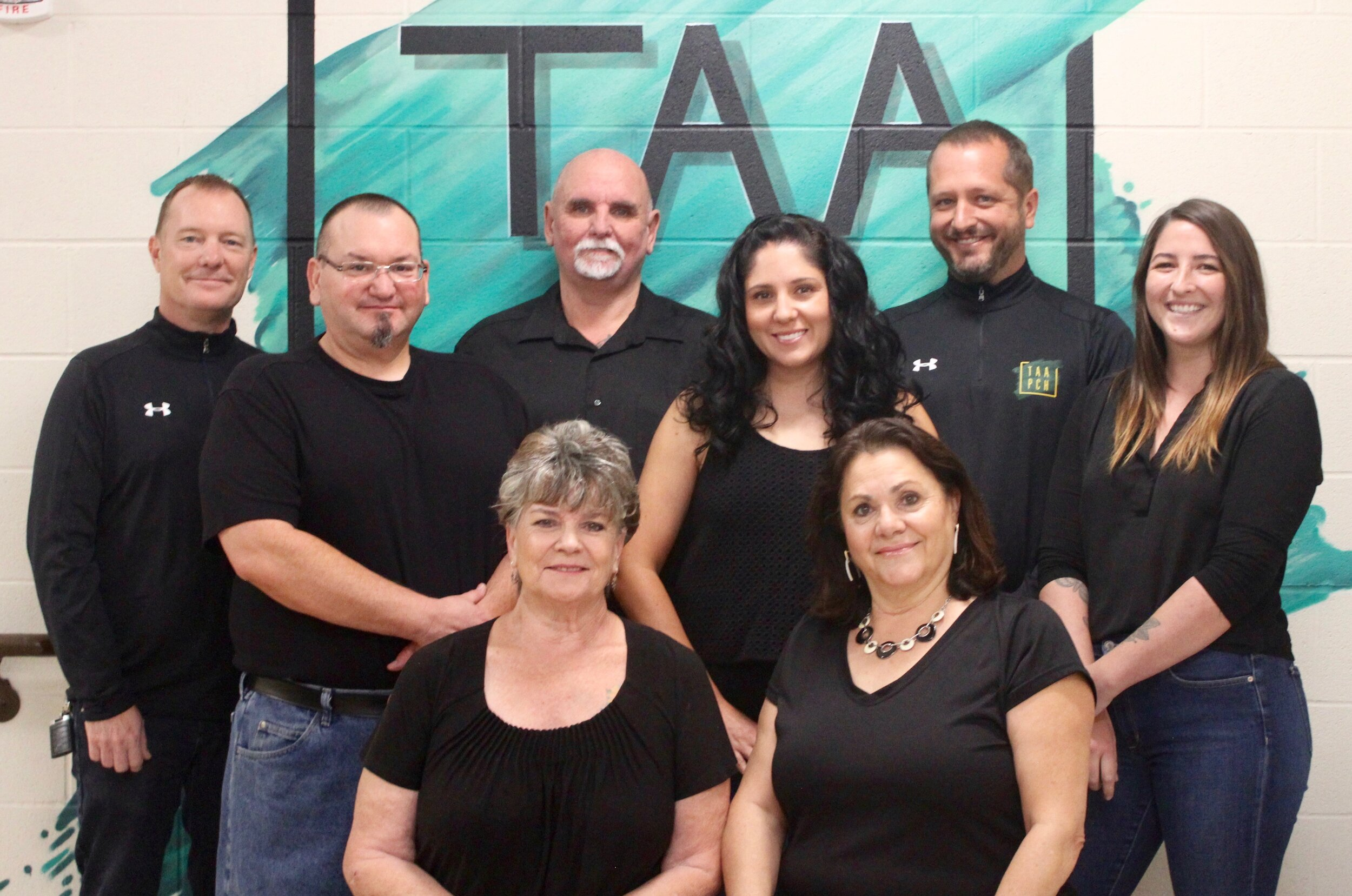 Staff members at  The Arts Academy  (left to right) include Brook Mead, Scott Santisteven, Jill Townsend, Jack Salesses, Aubrey Vialpando, Roxanne Pignanelli, Josh Muller, Taylor Gilman and not pictured Kennedy Pugh.