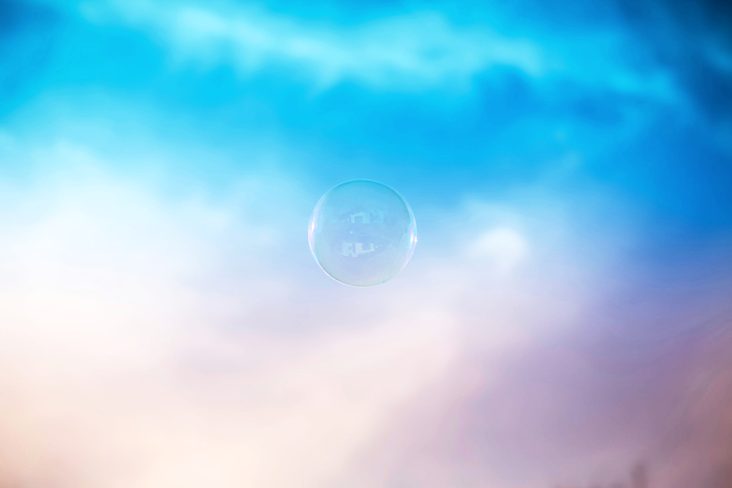 bubble and clouds