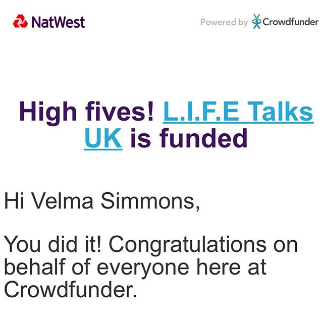 WE DID IT!!!! Thank you so much for believing in the @lifetalksuk vision by donating  or sharing our post, and allowing us to hit our target and to be funded by @natwest_business, this couldn't of happened without each one of you donating your hard earned money to support my dream! This money is going to help bring more exciting entrepreneurs to our platform, create a website or an app (we will do a poll) to let you watch exciting past @lifetalksuk and exclusive content! 2020 is going to be a real exiting  year for the L.I.F.E Talks brand!! Thank you again, and may you all have a blessed Sunday!❤️❤️❤️ Love, Velma Xxx  Sorry we couldn't tag more than 20 people!❤️