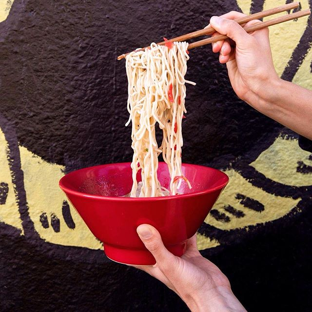 If there are this many noodles in the noodle pull, imagine how many are in the bowl. Make your dinner plans spicy with us tonight!