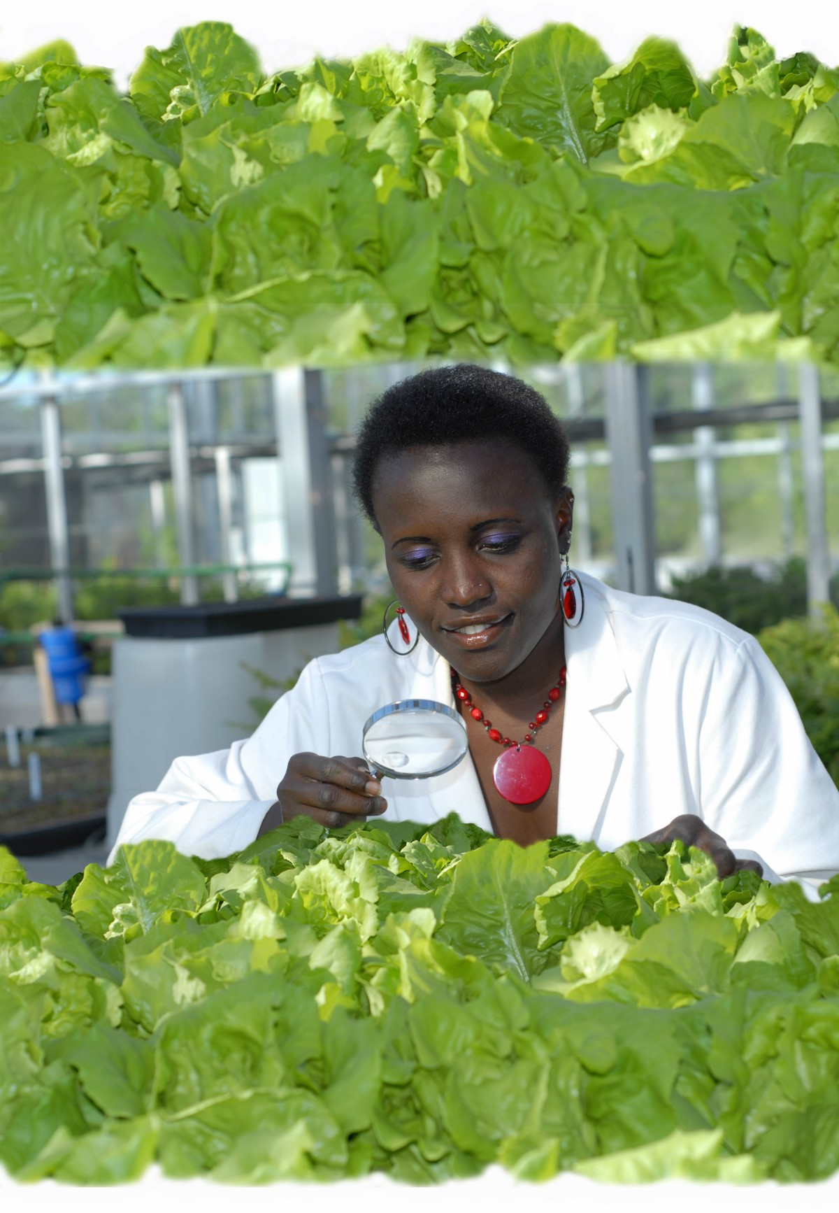 Esther Ngumbi at Auburn University Plant Science Research Center (picture taken by Laryssa Ferrara).