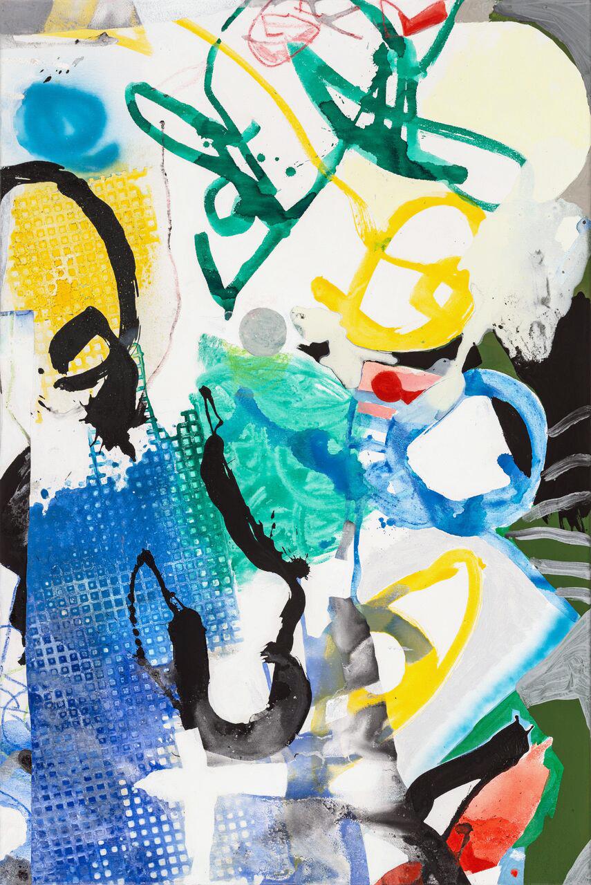 Something wicked here it comes, 2017, 120 x 80 cm, Öl und Acryl auf Leinwand