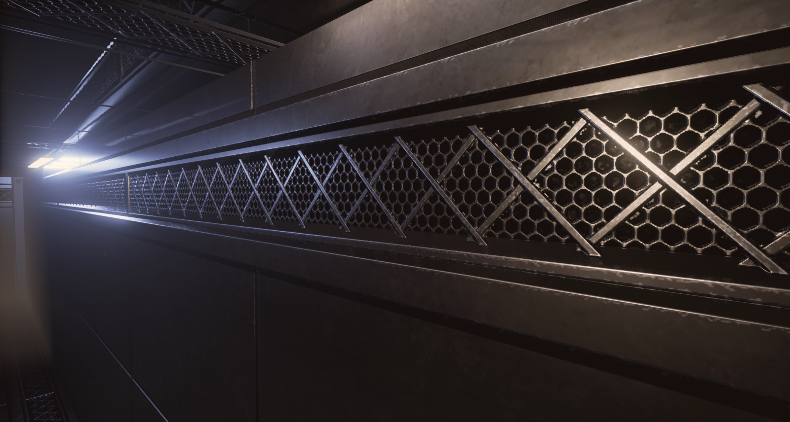 Environment textures created for a sci-fi spaceship environment