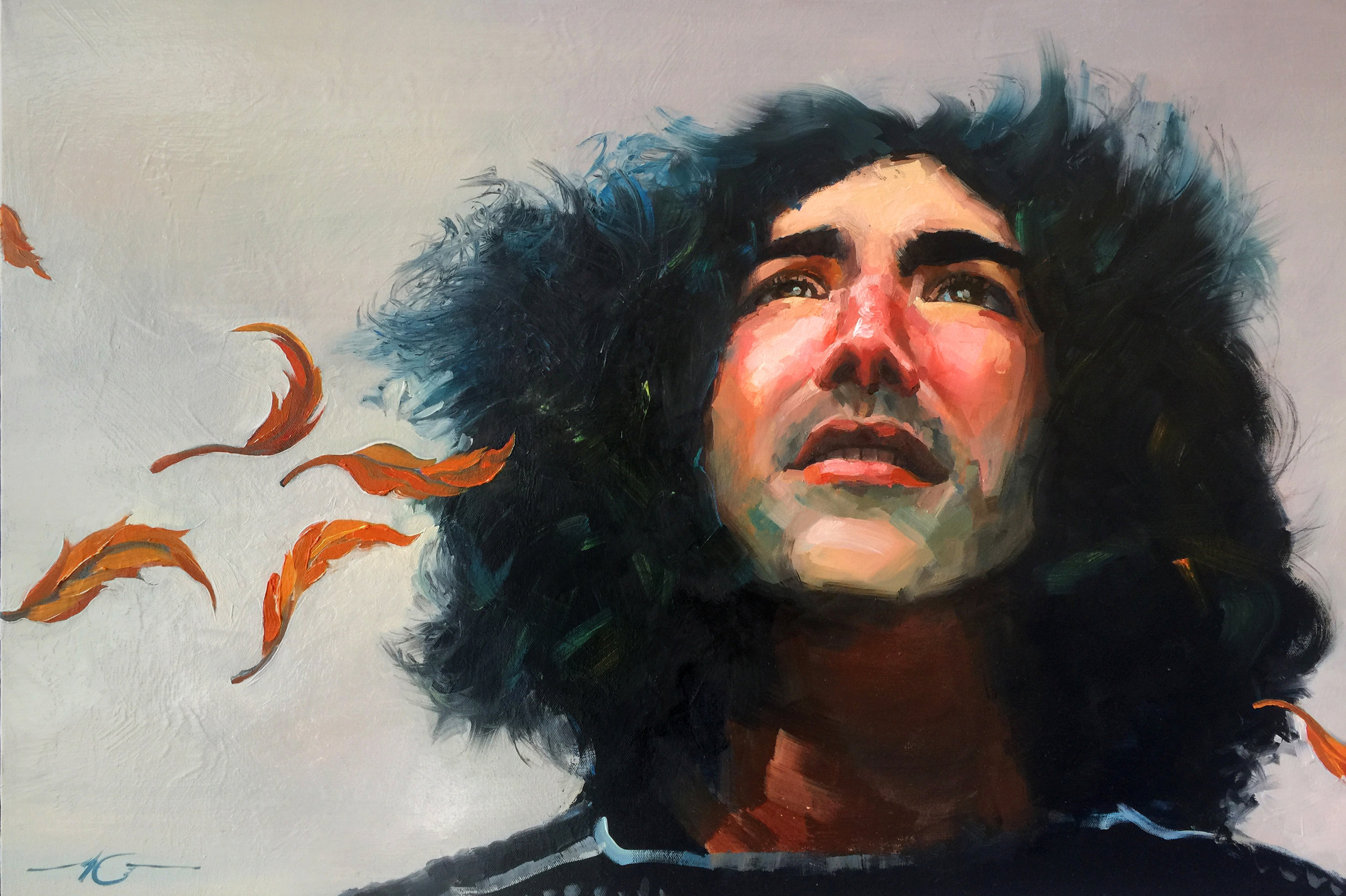 "Jerry Garcia  24"" x 36"" Oil on Canvas Sold"