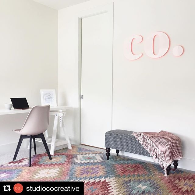 A stunning new logo installation @studiococreative  White acrylic letters with an orange halo glow, achieved using only natural light!  Lookin' good, you guys! ・・・ inside the studio 🗝 loving our new office sign produced by @qcographics and logo designed by @barunfox 💕 #ourpeople