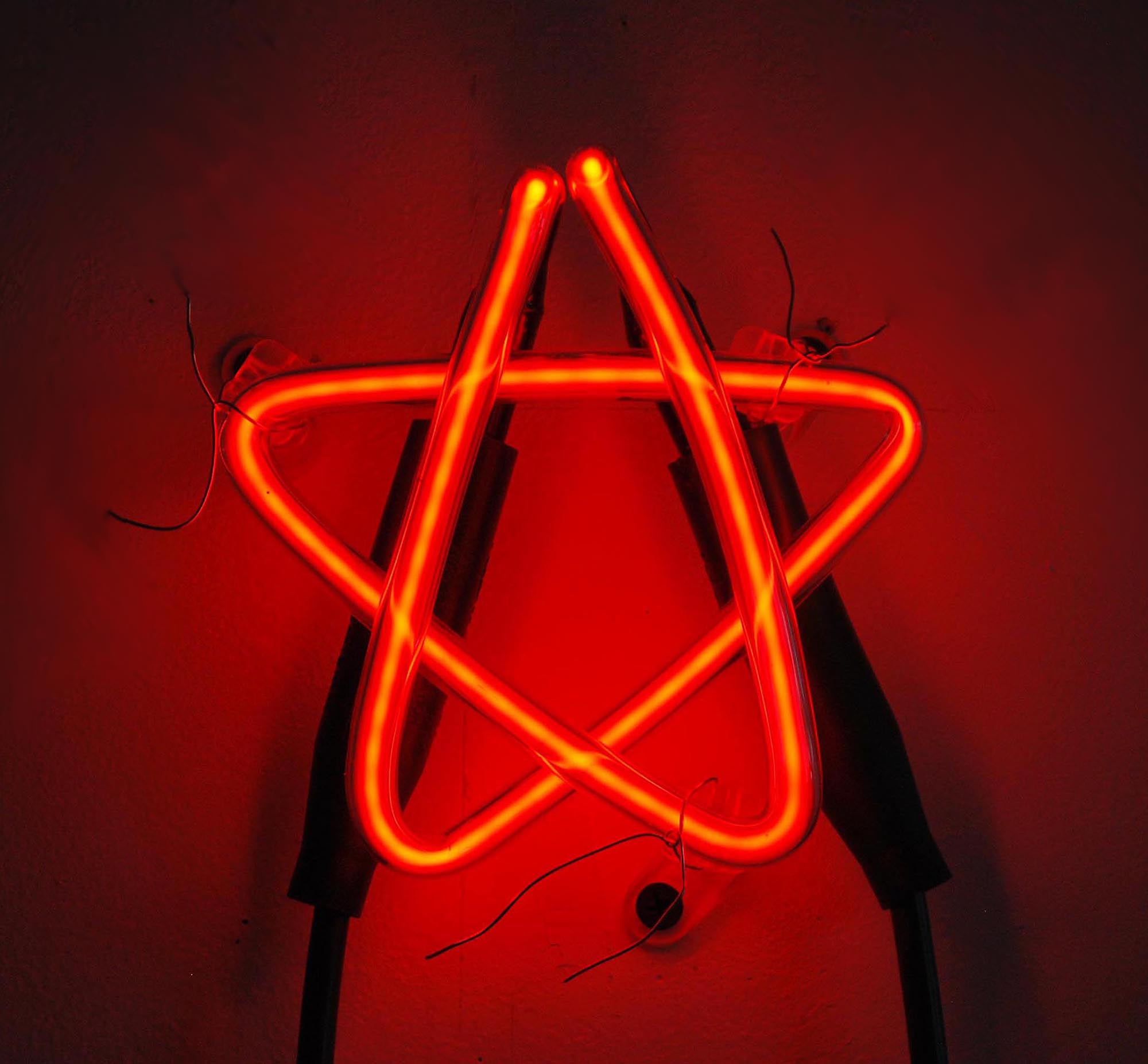 Red Star,  2017  Neon Edition of 3 5 x 5 x 3 in