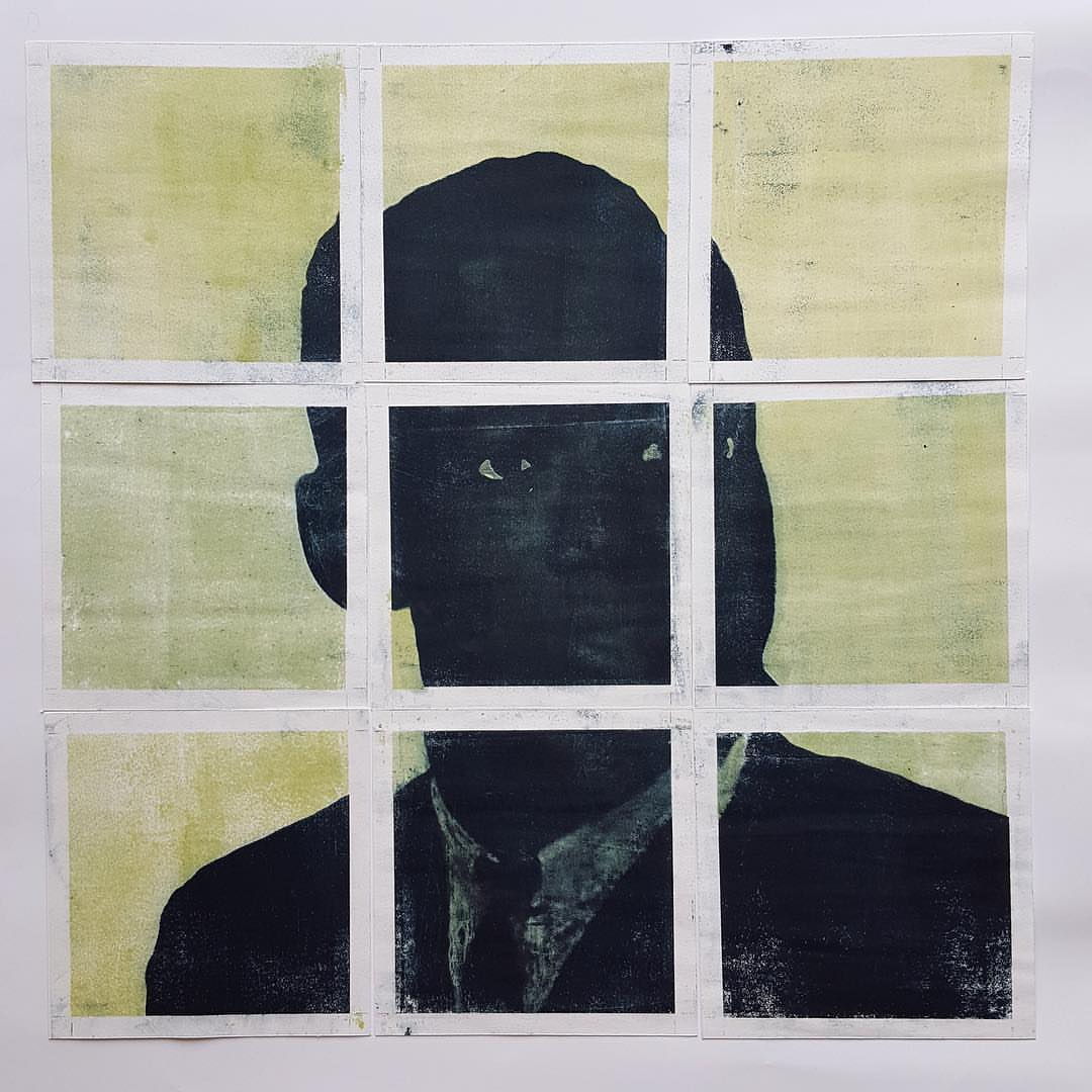 Karen Revis  Fred Hampton High School 2  Paper lithography  18 x 18 in