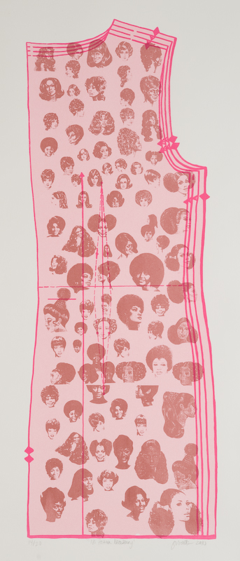 Jennifer Mack  No Pattern Necessary  Silkscreen 30 x 17 in
