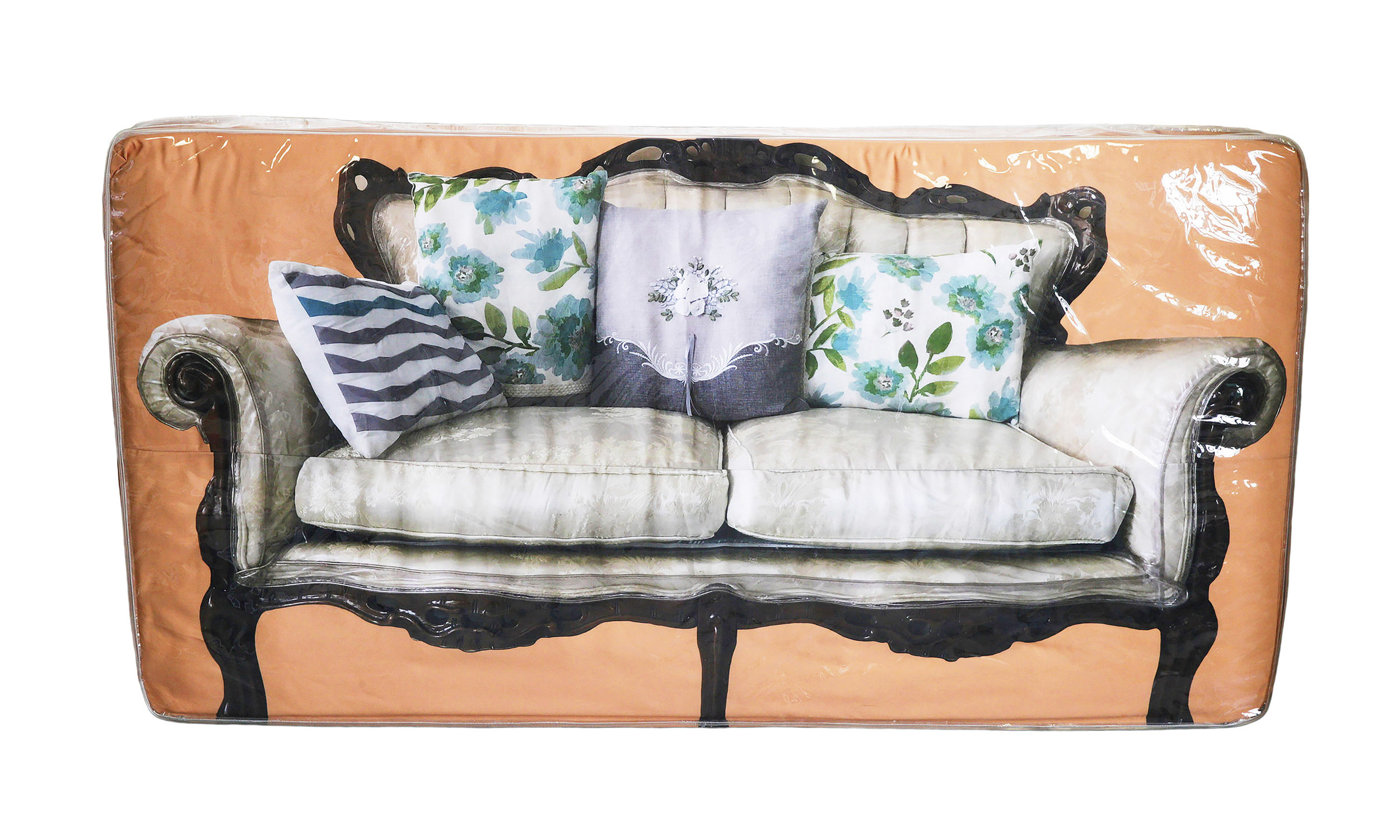Andreas Couch    Digital print on cotton fitted sheet, Twin Mattress 38 1/2 x 74 x 6 in $12,000