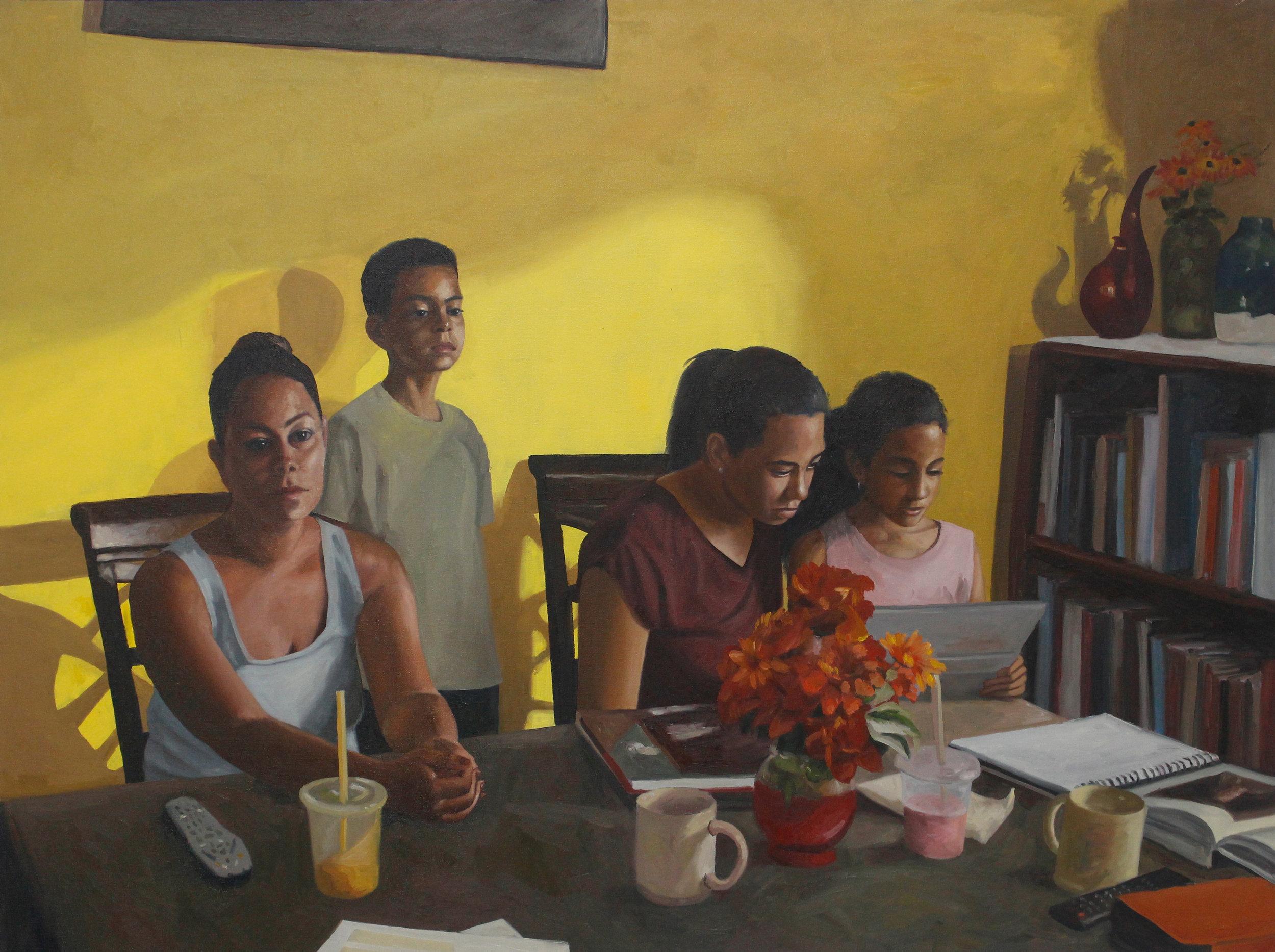Misunderstanding Home   Oil on Canvas 40 x 56 in