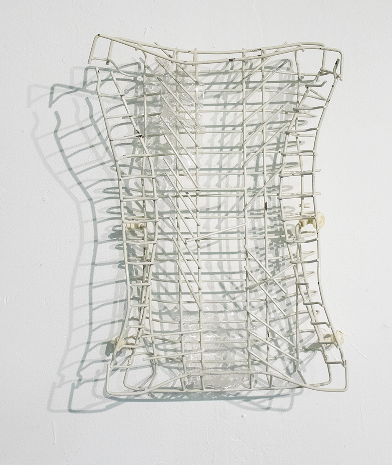 Untitled (dishwasher tray)  Found object sculpture  20 x 15 x 5 in