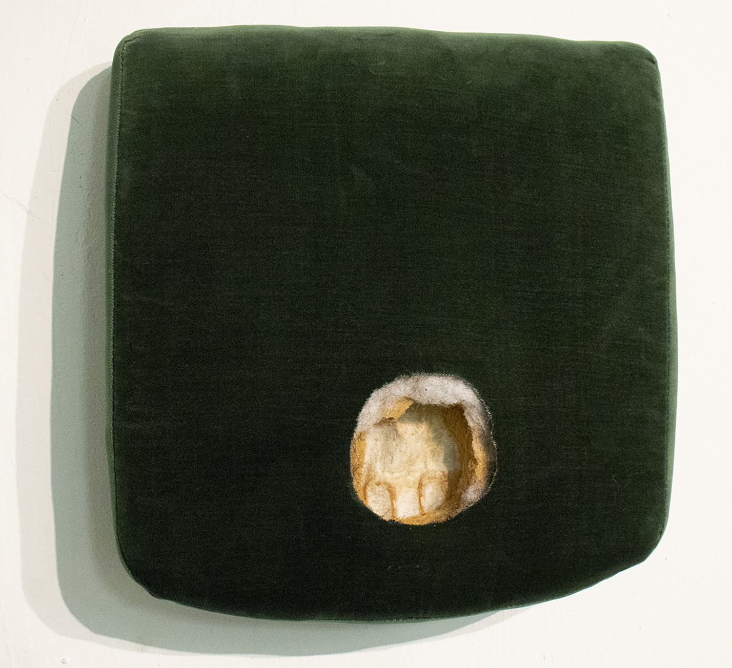 Untitled (seat)  Found object sculpture  17 x 18 x 5 in