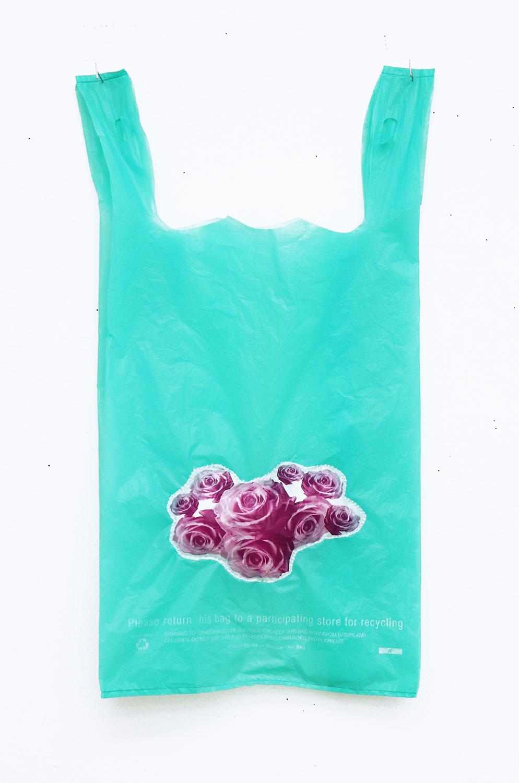 Green Puff Bag  Plastic bag 11 x 21.5 in