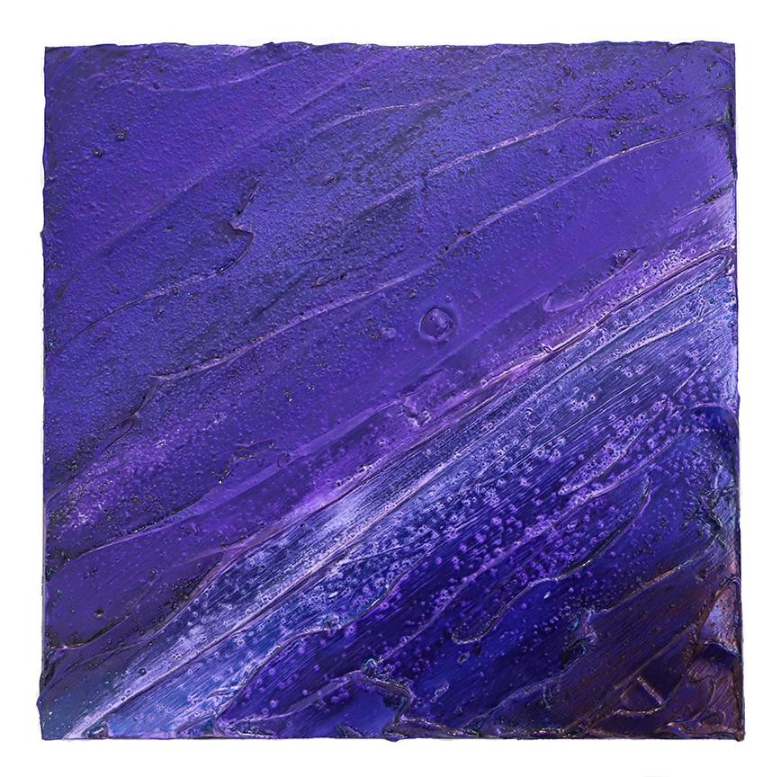 Meditation in violet   Oil on panel 12 x 12 in