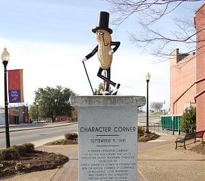 Character Corner - When driving through Downtown Suffolk, on the corner of West Washington Street and Main Street, there stands a peanut on a pedestal. This is the Character Corner. Just as random and intriguing as this peanut on a pedestal, our Character Corner showcases our experimental and unique one-off small batch beers. These one-offs will rotate in and out to keep you coming back for more, But be aware that once its gone, its gone!Check Facebook or stop on in to see the latest tappings!